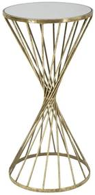 Masuta Hypnos, Metal Oglinda, Auriu Alb, 35X70 cm