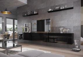 Expedo Mobilă sufragerie ELPASO 6, negru/negru luciu