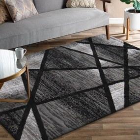 Covor modern gri-negru cu un model abstract Lăţime: 80 cm | Lungime: 150 cm