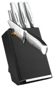 Set cutite otel inoxidabil (8 piese) Black Silver Kikoza Collection Berlinger Haus BH 2338
