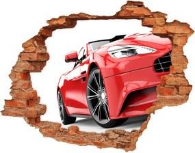 Autocolant de perete gaură 3D Mașină sport