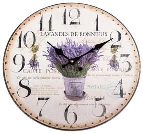 Ceas de perete Lavandes de Bonnieux, 34 cm