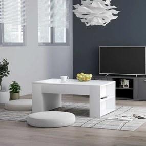 802111 vidaXL Măsuță de cafea, alb, 100 x 60 x 42 cm, PAL