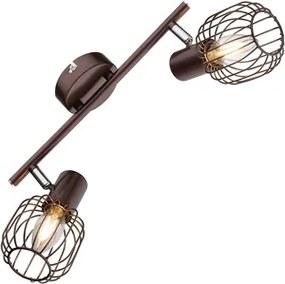 Plafoniera tip spot 2XE14 bronz Akin Globo Lighting 54801-2