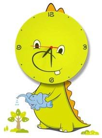 LED Aplică perete copii cu ceas LED/1W/3xAAA dragon