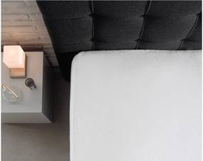 Cearșaf cu elastic Sleeptime, 140 x 200 cm, alb