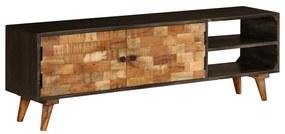 246167 vidaXL Comodă TV, lemn masiv de mango, 140 x 30 x 45 cm