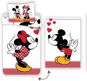 Lenjerie de pat Mickey and Minne in Love, 140 x 200 cm, 70 x 90 cm