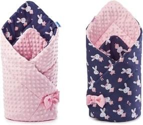 Sensillo - Paturica nou-nascut  Minky Wrap roz 80x80 cm