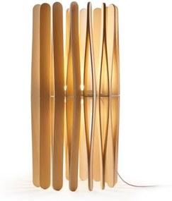 Stick B02 - Lampă de masă minimalistă cu abajur din lemn