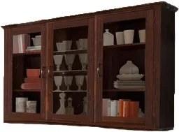 Vitrina Home Affaire, lemn masiv, maro colonial, 156x37x100 cm
