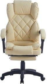 Scaun directorial, suport picioare, funcție recliner, SIB 818-2, Bej