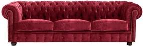 Canapea Max Winzer Norwin Velvet, 200 cm, roșu