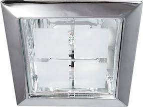 Rábalux Spot office 1150 Spoturi incastrate - tavan crom E27 2x MAX 26W 230 x 230 mm