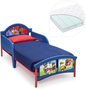 Delta Children Set pat cu cadru metalic Paw Patrol si saltea pentru patut Dreamily - 140 x 70 x 10 cm
