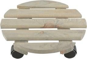 Suport din lemn de pin pentru ghiveci Esschert Design, ⌀ 29 cm