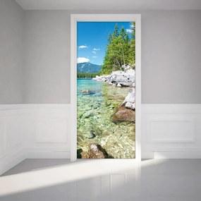 Autocolant adeziv pentru ușă Ambiance Crystal Lake, 83 x 204 cm