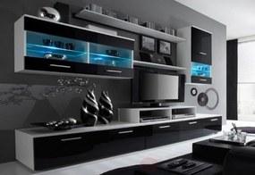 Expedo Mobilă sufragerie RUFUS I, alb/negru luciu