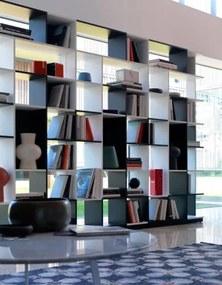 "Biblioteca din MDF ""Sudoku"" White / Black, l95xA26xH197 cm"