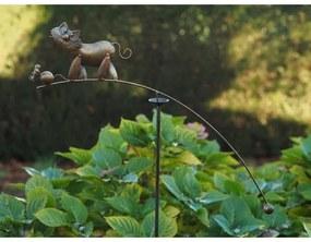 Figurina metal Balance cat and mouse, 130x80x4 cm