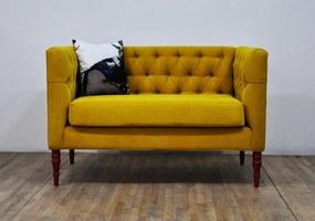 Sofa Loveseat - Yellow Love (2 Locuri)