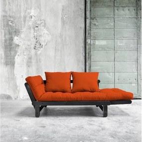 Canapea extensibilă Karup Beat Black/Orange