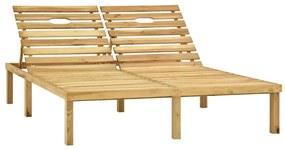 315398 vidaXL Șezlong de grădină dublu, lemn de pin tratat verde