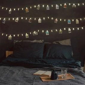 Ghirlandă luminoasă cu LED, beculețe în formă de clești DecoKing, 40 beculețe, lungime 6,35 m, transparent