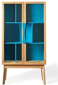 Biblioteca albastra din lemn Avon Woodman