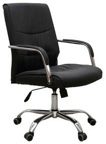 Scaun de birou HEDO, piele ecologica, negru
