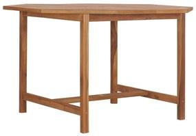 49006 vidaXL Masă de grădină, 120 x 120 x 75 cm, lemn masiv de tec