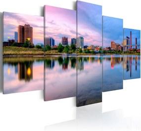 Bimago Tablou - City Bay 100x50 cm
