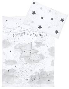 Klups - Lenjerie 3 piese My Star din Bumbac, 135x100 cm, Gri