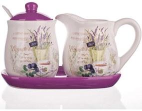 Cană din ceramică pentru lapte şi zaharniţă Lavender, BANQUET