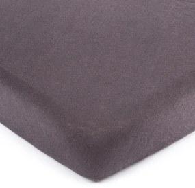 Cearșaf de pat 4Home jersey gri închis, 160 x 200 cm, 160 x 200 cm
