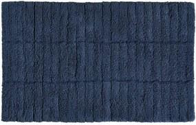 Covor baie din bumbac Zone Tiles, 50 x 80 cm, albastru închis