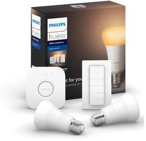 Set de bază Philips HUE WHITE AMBIANCE 2xE27 / 8.5W / 230V + dispozitiv de conectare