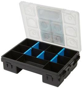 Organizator universal cu 11 compartimente, 15x20x8 cm, Gri/Negru