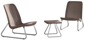 407208 Keter Set mobilier de exterior Rio 3 piese, cappuccino, 218157