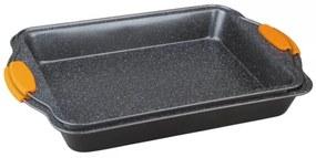 Set 2 Tavi pentru cuptor dreptunghiulare cu manere din silicon Granit Diamond Line Berlinger Haus BH 1141