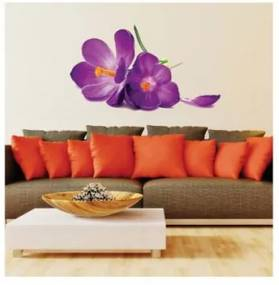 Sticker perete Romantic Big Purple Flower
