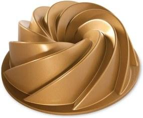 Formă pentru guguluf Nordic Ware Rondo Heritage, 2,4 l, auriu