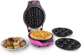 OneConcept Trinity Mini tort Pop Maker Waffle 1000W negru