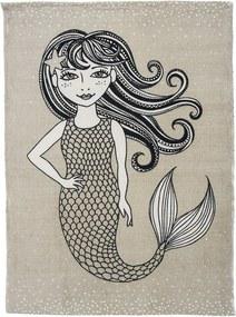 Covoras Mermaid - Natur , Bumbac