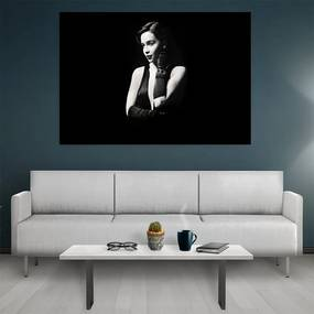 Tablou canvas Black and White Girl