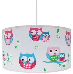 Lustra copii OWLS 1xE27/60W/230V alb