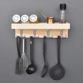 Raft multifuncțional pentru bucătărie fabricat manual Mia