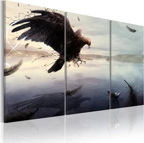 Bimago Tablou - Eagle Above The Surface Of A Lake 60x40 cm