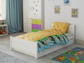 Písecké lůžkoviny Lenjerie de pat bumbac mică pentru pătut Micuta Cârtită galben