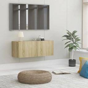 801475 vidaXL Comodă TV, stejar Sonoma, 80 x 30 x 30 cm, PAL